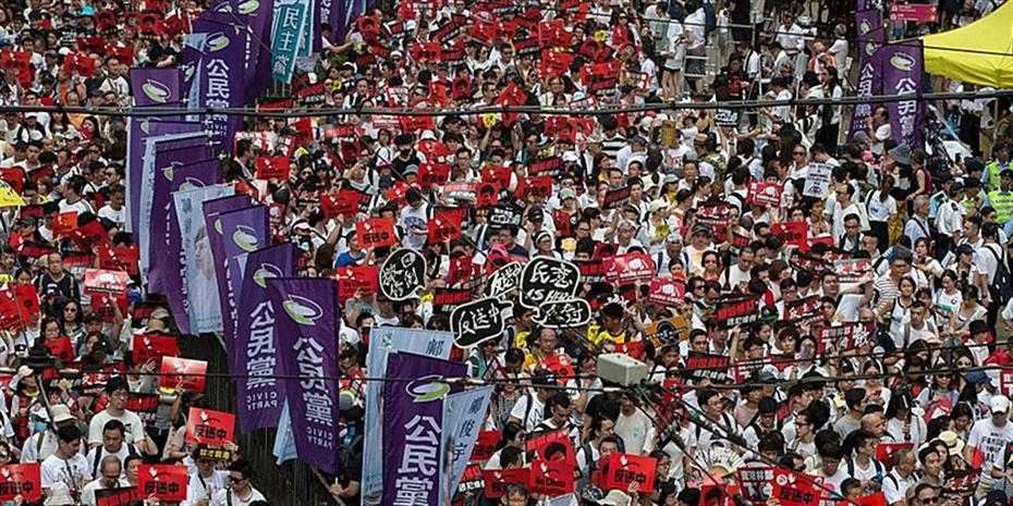 Κίνα: Σχεδόν τρομοκρατικές οι ενέργειες στο Χονγκ Κονγκ