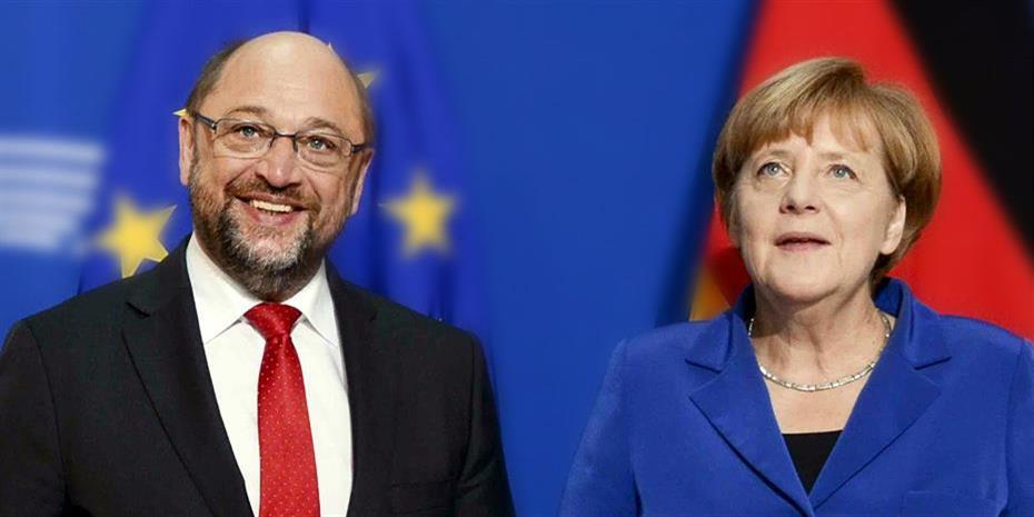 Εντολή διαπραγμάτευσης για μεγάλο συνασπισμό πήραν Μέρκελ-Σουλτς