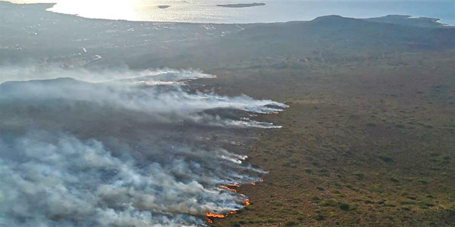 Εφτασε κοντά σε κατοικίες η φωτιά στην Πάρο