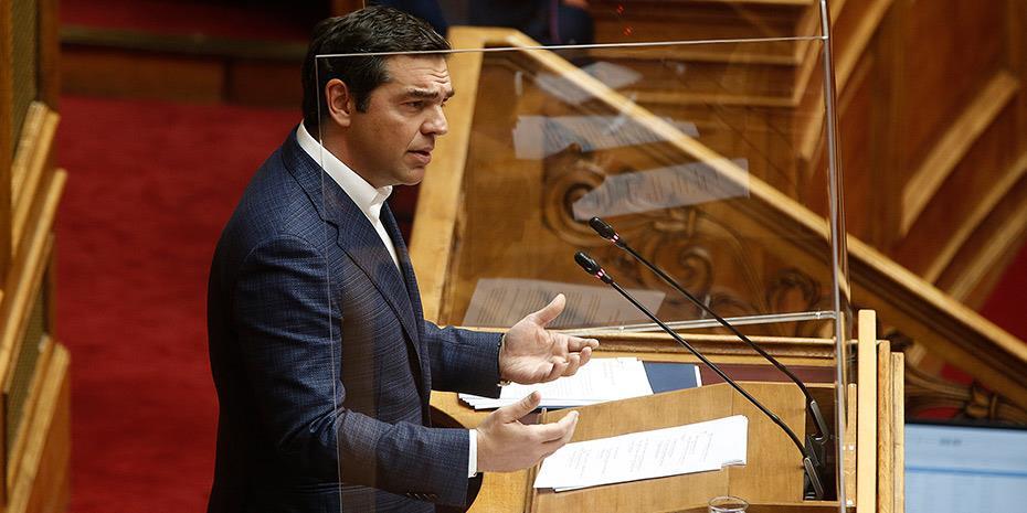 Τσίπρας: Φιμώνουν για να κρύψουν πως η ΝΔ είναι χρεοκοπημένη