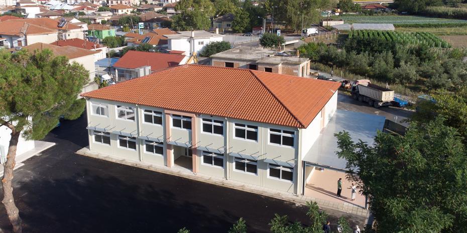 ΓΕΚ Τέρνα: Έτοιμο σε χρόνο-ρεκόρ το σχολείο στο Δαμάσι Τυρνάβου