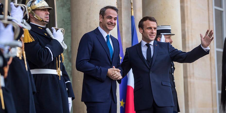 Παρίσι: Η Τουρκία στο επίκεντρο της συνάντησης Μακρόν και Μητσοτάκη