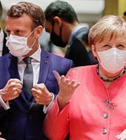 Σκληρή κόντρα Μακρόν-Μέρκελ για τις κυρώσεις κατά Τουρκίας