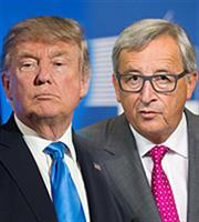 Ο Γιούνκερ, ο Τραμπ και στο βάθος... Ελλάδα