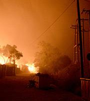 Πυρκαγιά στο ΚΥΤ της Σάμου