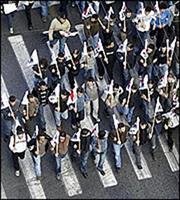 Πορεία διαμαρτυρίας στη Βουλή από ΓΣΕΕ και ΑΔΕΔΥ